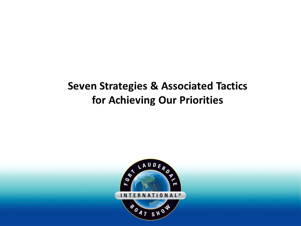 Seven Strategies & Associated Tactics for Achieving Our Priorities