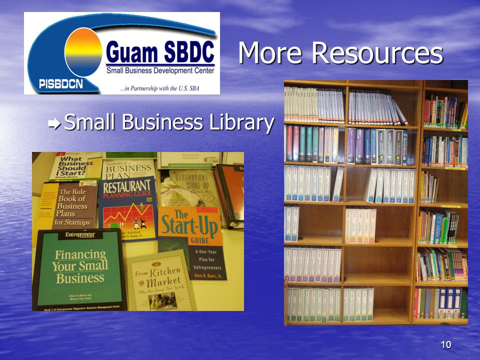 More Resources Small Business Library Small Business Library 10