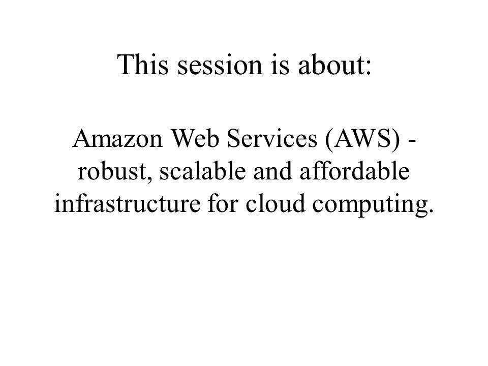 AdaptiveBlue & AWS On EC2: We are running web service and load balancers On S3: We are storing XML representation of books, music, movies, stocks, wines, etc.