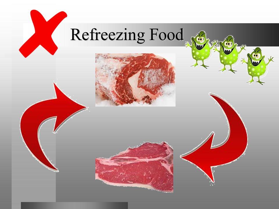 Refreezing Food