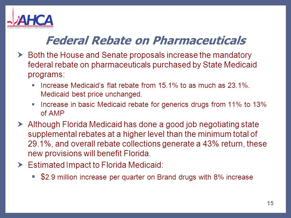 House Affordable Health Care for America Act – Fiscal Impact of Increased Reimbursement for Primary Care Practitioners House Affordable Healthy Future Act increase to reimbursement rates for Primary Care Providers begins in 2010 – Prior to the start date for the Medicaid program expansions contemplated in either the House or Senate proposal.