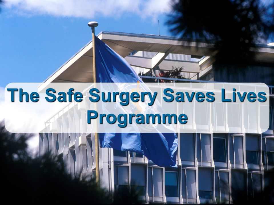 The Safe Surgery Saves Lives Programme
