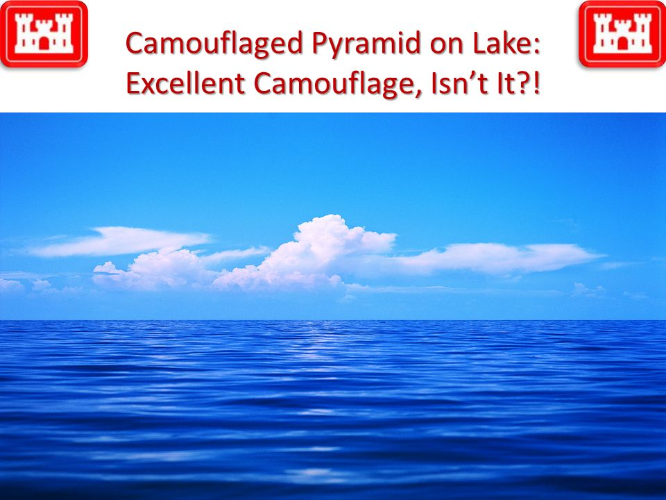 Camouflaged Pyramid on Lake: Excellent Camouflage, Isnt It?! © Dale R. Geiger 201131