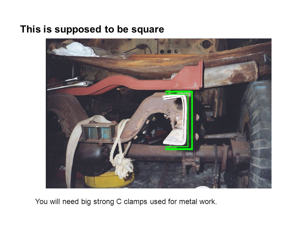 This is supposed to be square You will need big strong C clamps used for metal work.