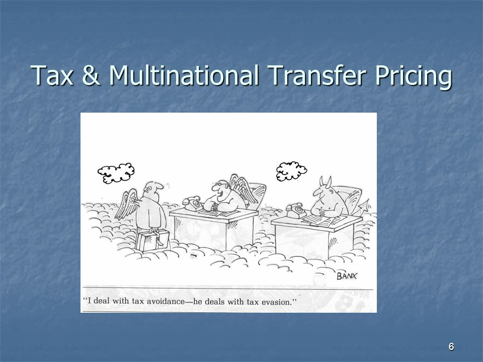 Tax & Multinational Transfer Pricing 6