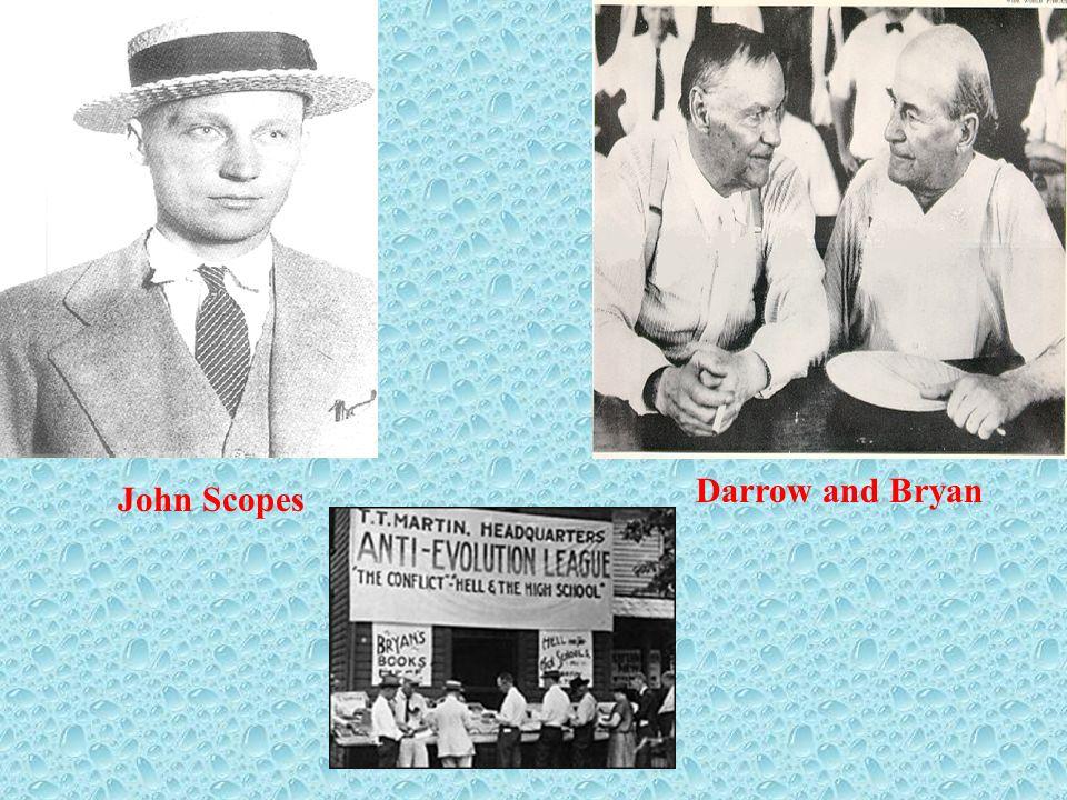 Darrow and Bryan John Scopes
