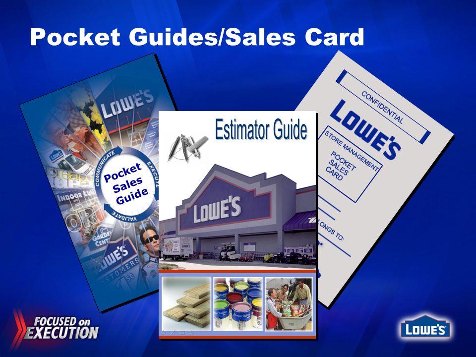 Pocket Guides/Sales Card Pocket Sales Guide
