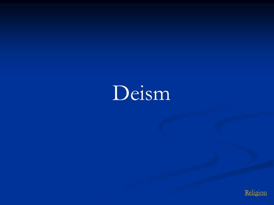 Deism Religion