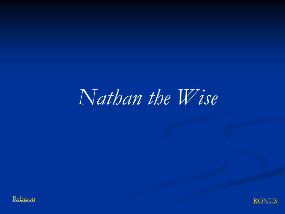 Nathan the Wise BONUS Religion