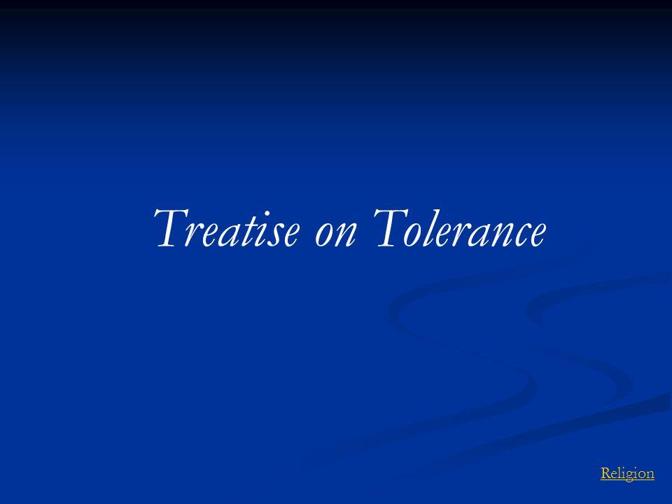 Treatise on Tolerance Religion