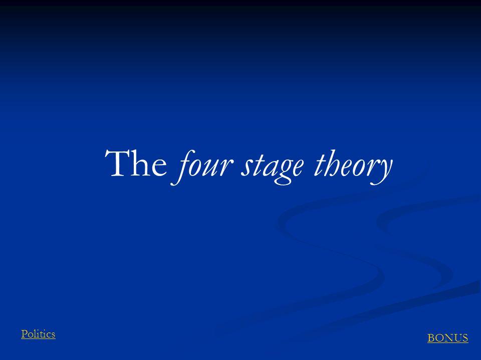 The four stage theory BONUS Politics