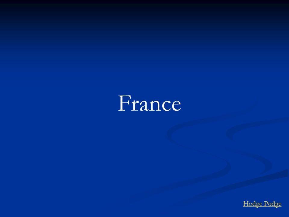 France Hodge Podge