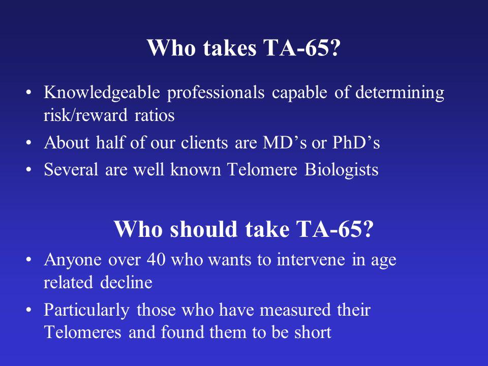 Who takes TA-65.