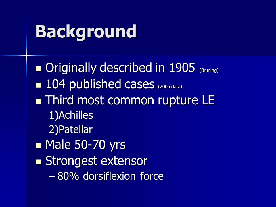 Background Originally described in 1905 (Bruning) Originally described in 1905 (Bruning) 104 published cases (2006 data) 104 published cases (2006 dat