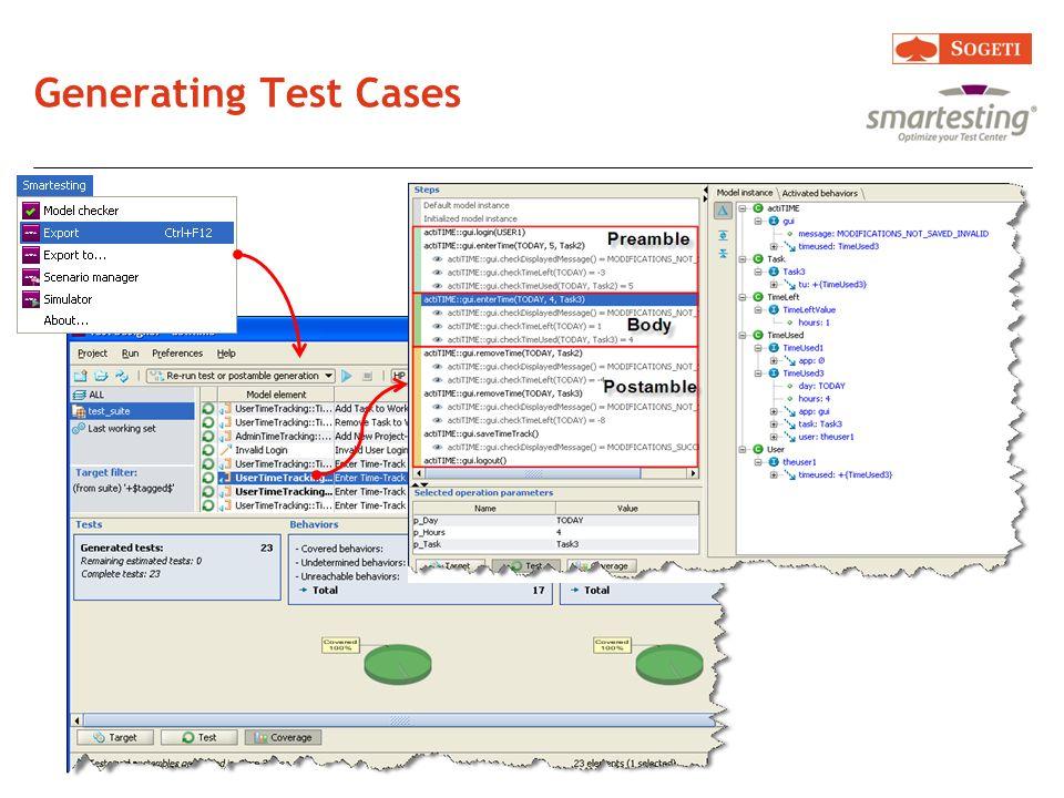 Generating Test Cases