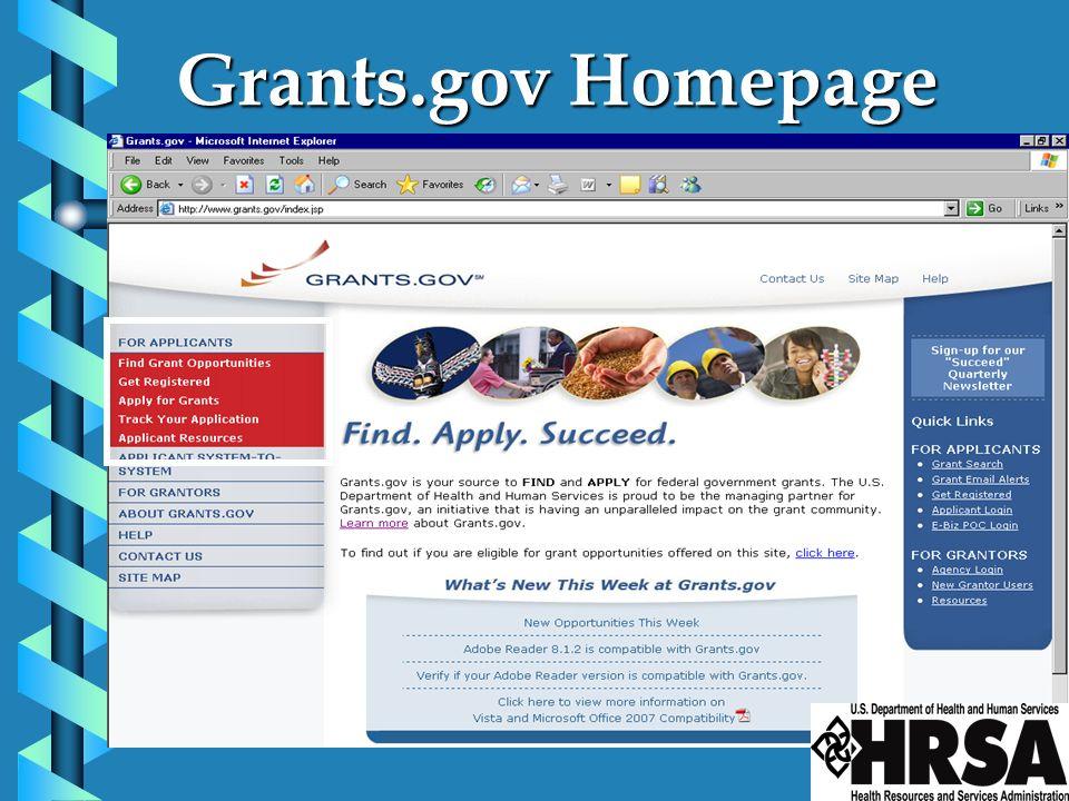 Grants.gov Homepage