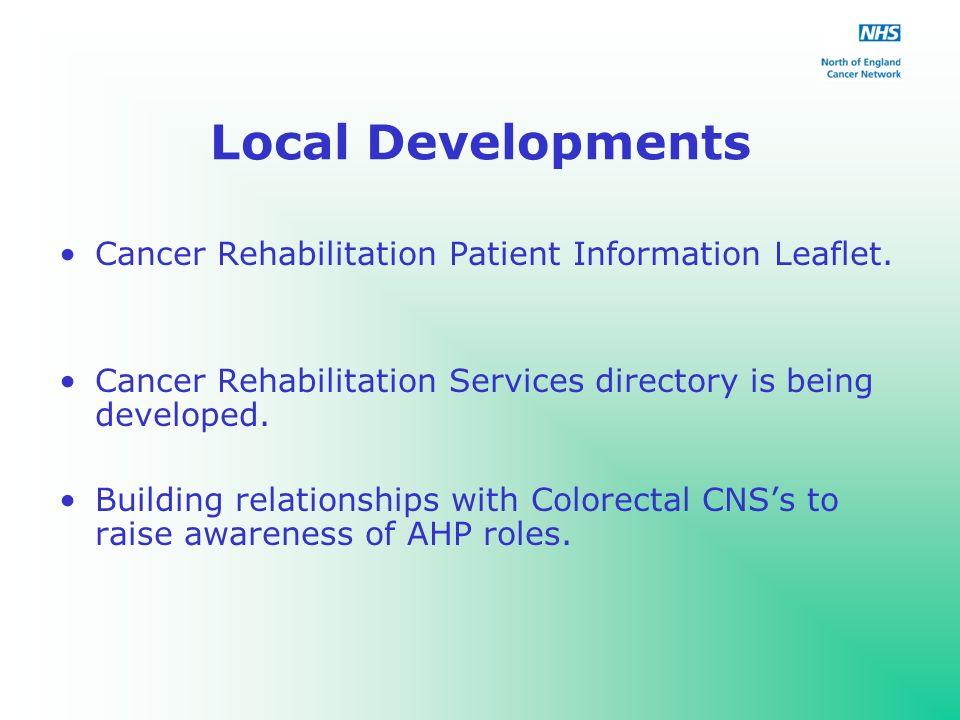 Local Developments Cancer Rehabilitation Patient Information Leaflet.