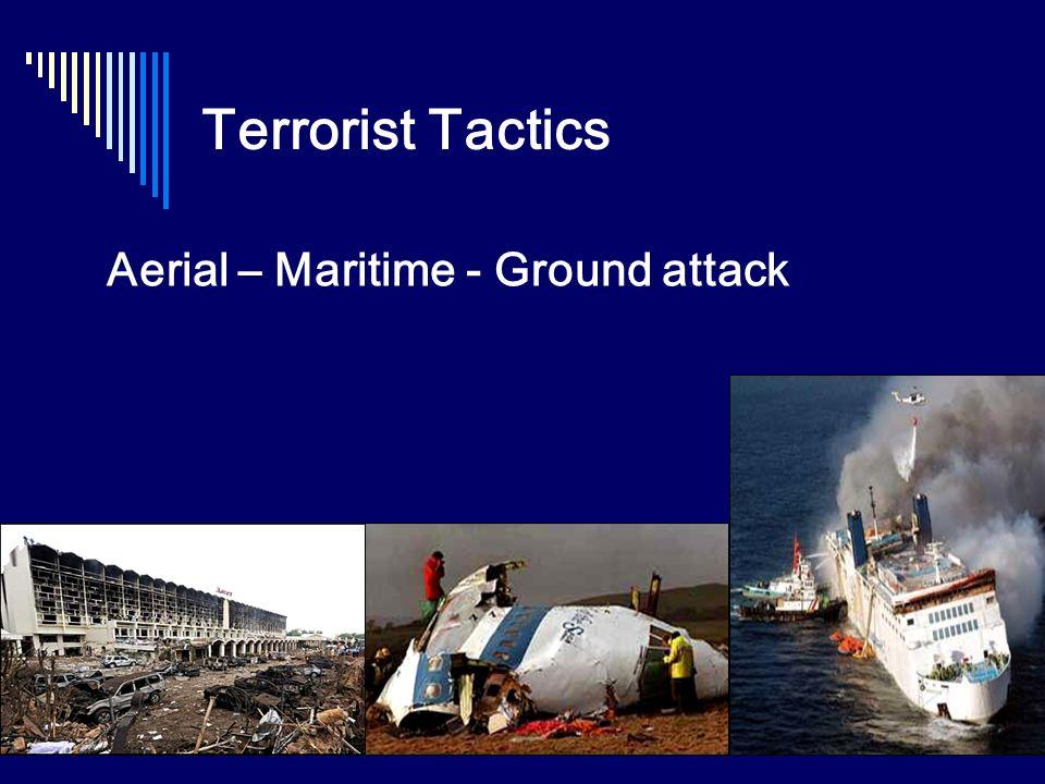 Terrorist Tactics Aerial – Maritime - Ground attack