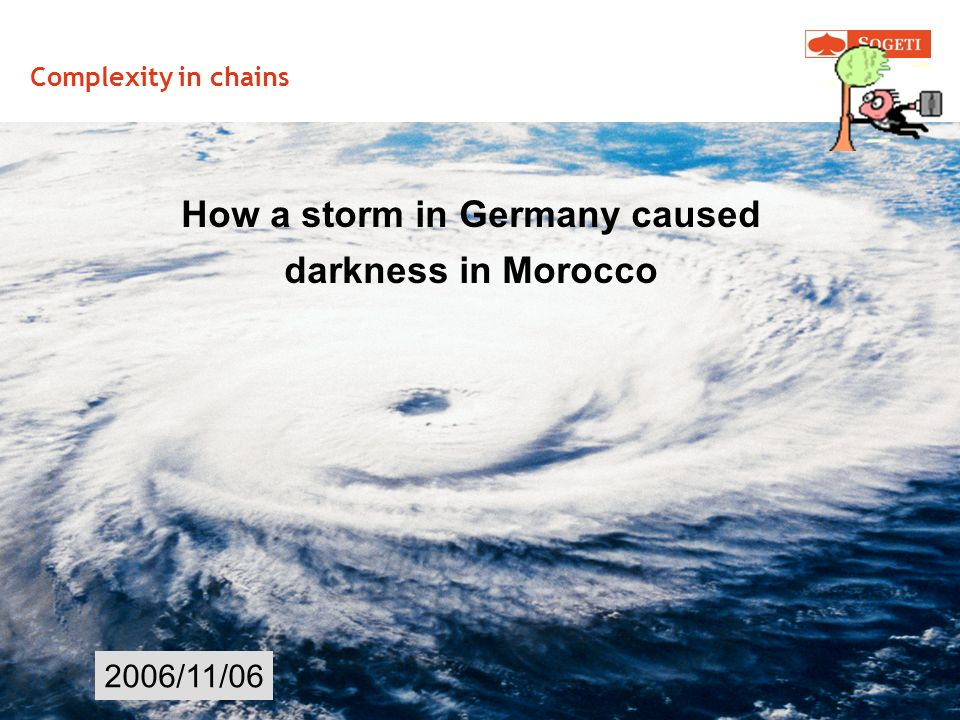 Complexity in chains 2006/11/06 How a storm in Germany caused darkness in Morocco