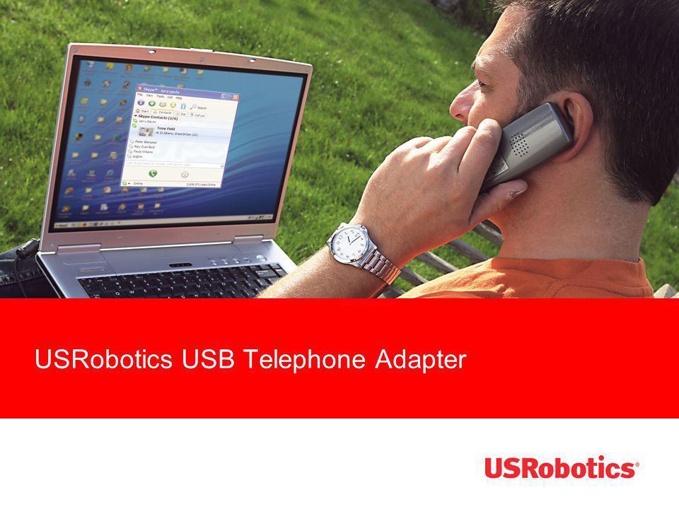 The USRobotics USB Telephone Adapter is...