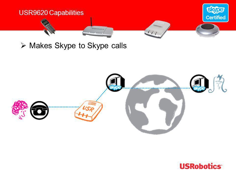 USR9620 Capabilities Makes Landline to Landline (POTS to POTS) Calls