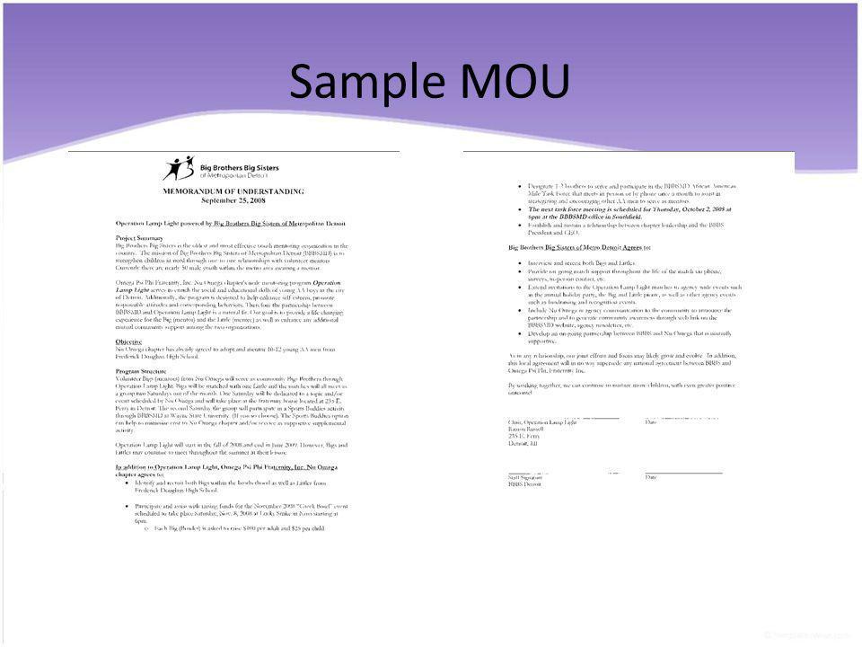 Sample MOU