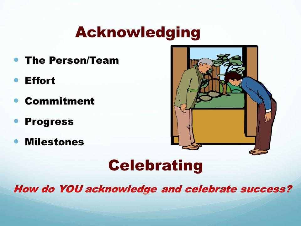 Acknowledging