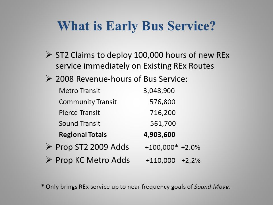 What is Early Bus Service.