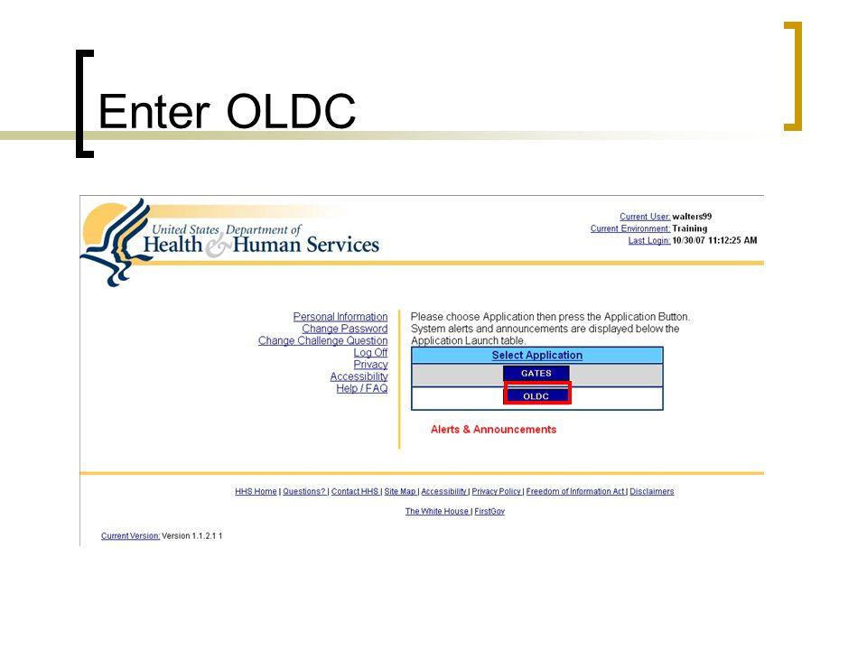Enter OLDC