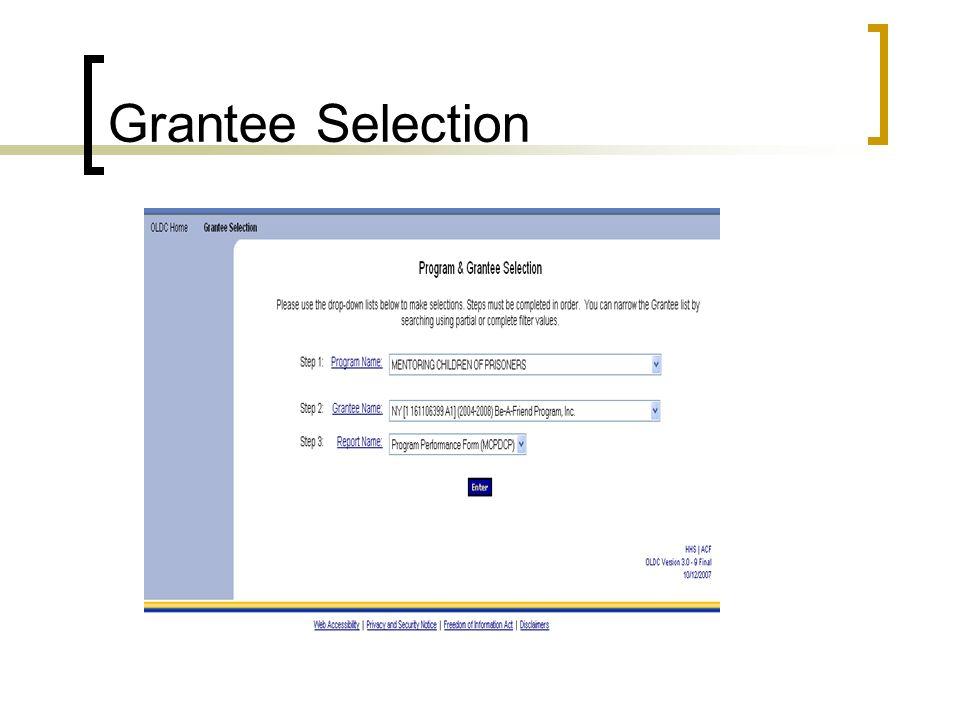 Grantee Selection