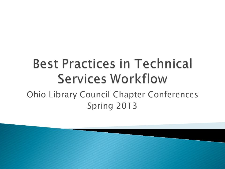 Ohio Library Council Chapter Conferences Spring 2013