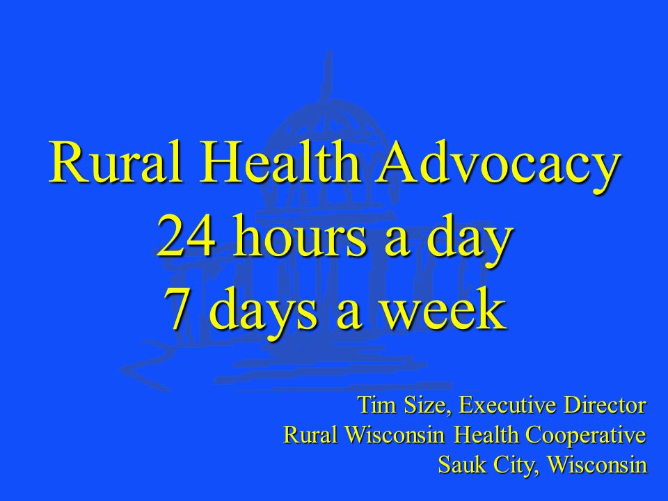 Rural Wisconsin Health Cooperative POPULATION HEALTH