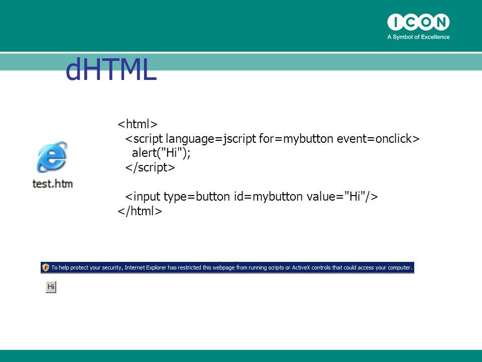 dHTML alert(
