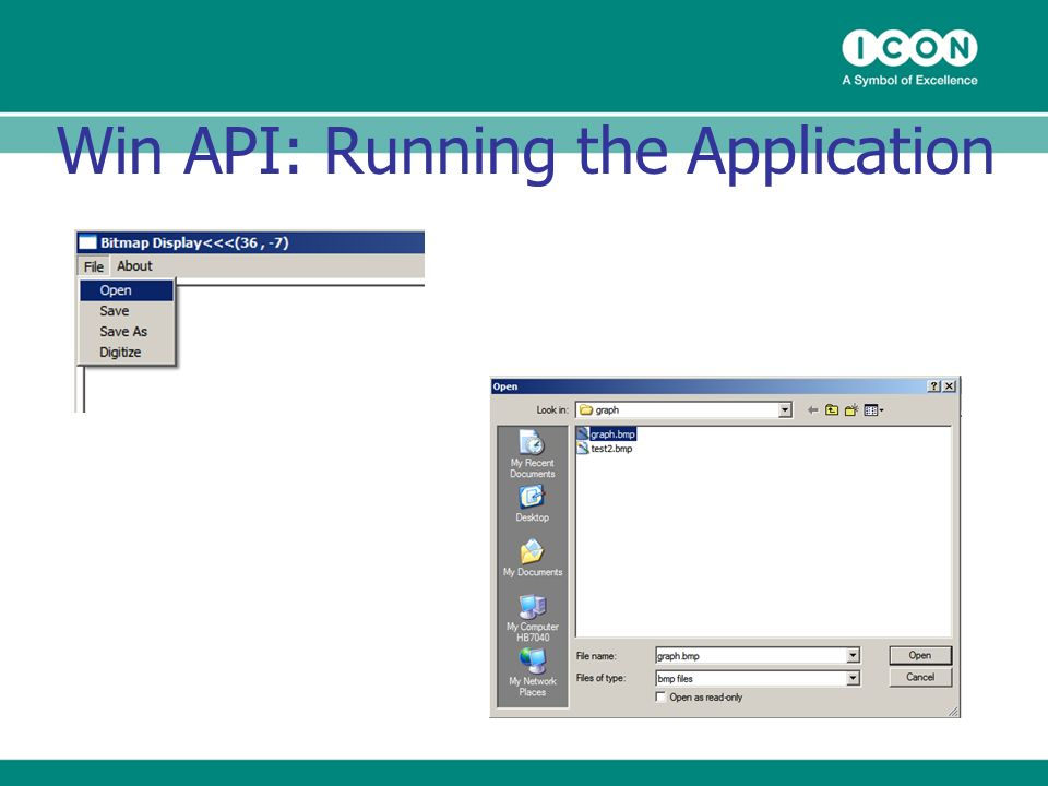 Win API: Running the Application