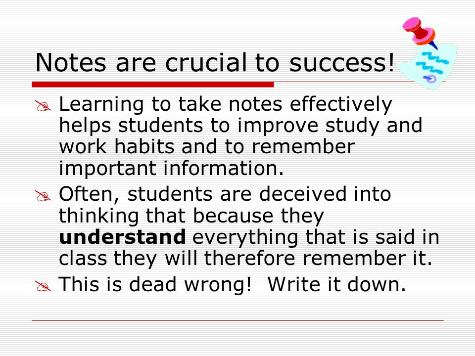Write summaries of the most important material in the summary/reflection section Write a quiz for others using notes; exchange and correct Write anticipated test questions beyond those already in the left-hand column and write answers Rewrite notes if necessary Keep notes neat and legible Write!