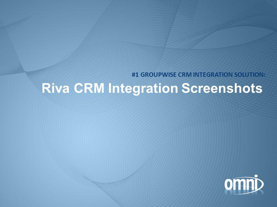 Riva CRM Integration Screenshots #1 GROUPWISE CRM INTEGRATION SOLUTION: