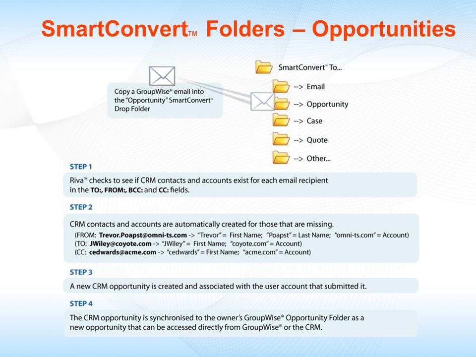 SmartConvert TM Folders – Opportunities