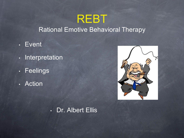 REBT Rational Emotive Behavioral Therapy Event Interpretation Feelings Action Dr. Albert Ellis