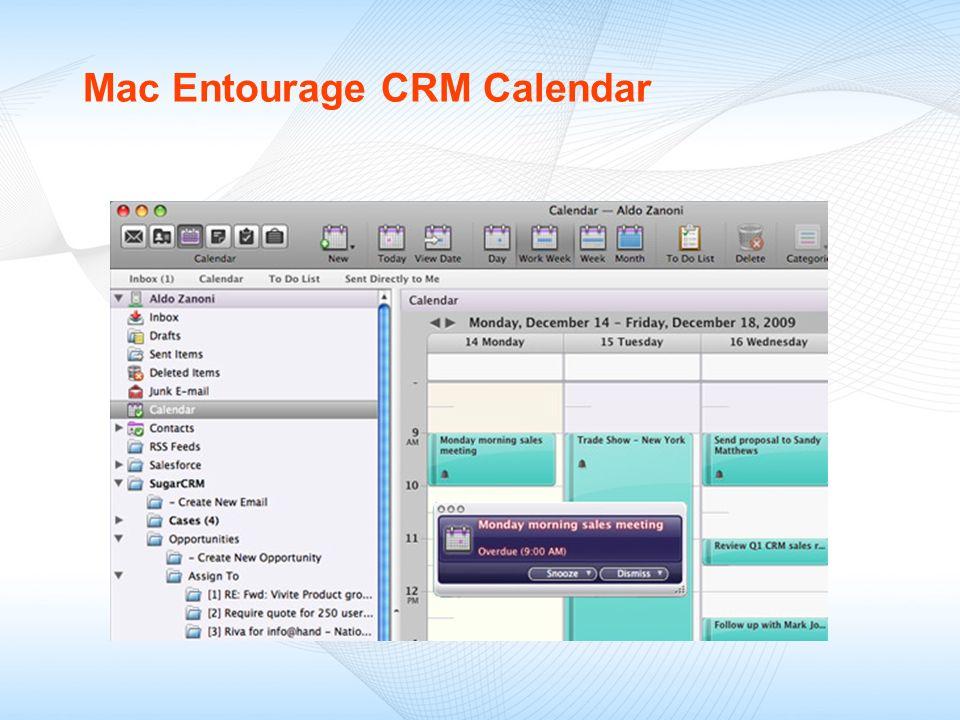 Mac Entourage CRM Calendar