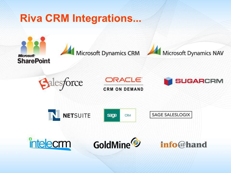 Riva CRM Integrations...
