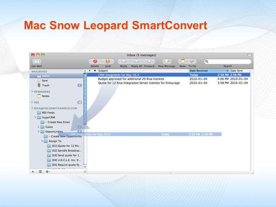 Mac Snow Leopard SmartConvert