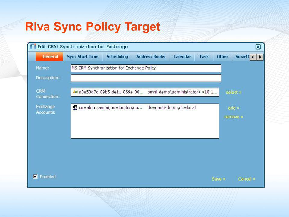 Riva Sync Policy Target