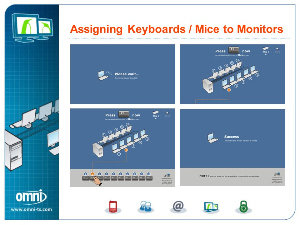 Assigning Keyboards / Mice to Monitors Assigning Keyboards and Mice to Monitors