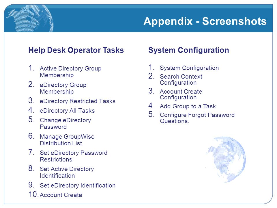 Appendix - Screenshots 1. Active Directory Group Membership 2.