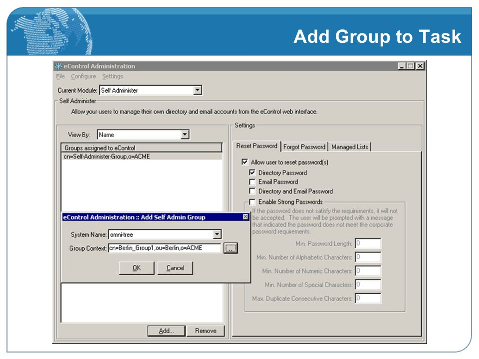 Add Group to Task