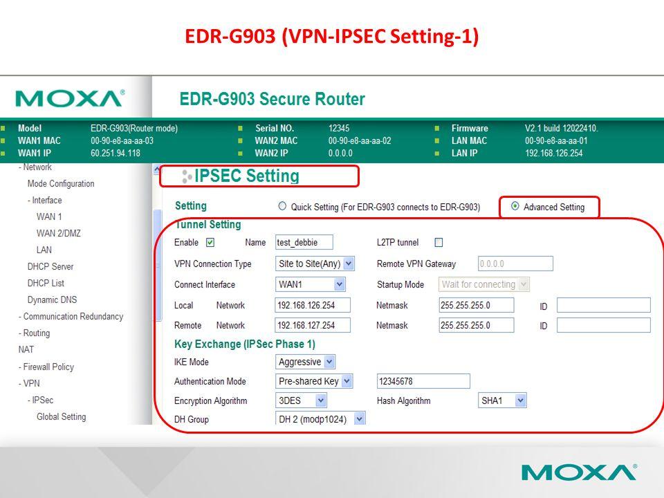 EDR-G903 (VPN-IPSEC Setting-1)