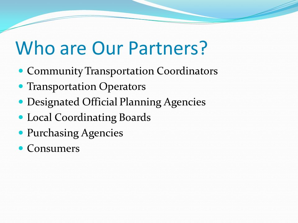 Who are Our Partners.