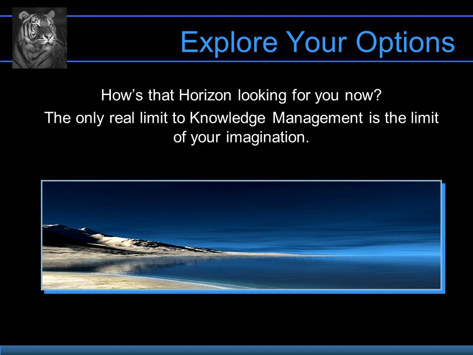 Explore Your Options Hows that Horizon looking for you now.