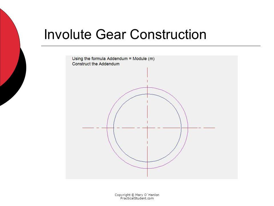 Copyright © Mary O Hanlon PracticalStudent.com Involute Gear Construction