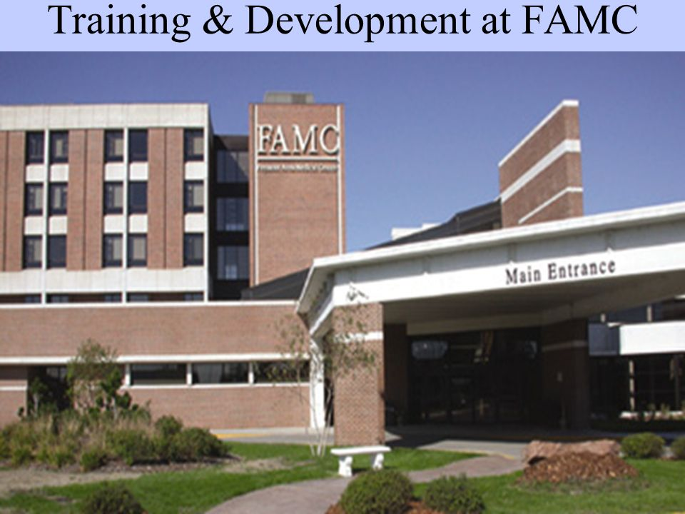 Training & Development at FAMC